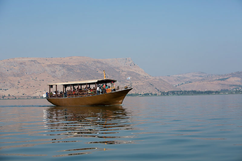 Boat on Sea of Galilee